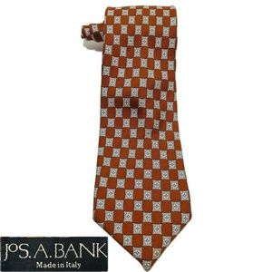 Jos. A. Bank Orange Checkered Necktie